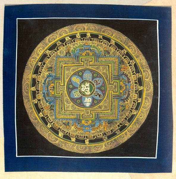 Kalachakra Thangka - blau